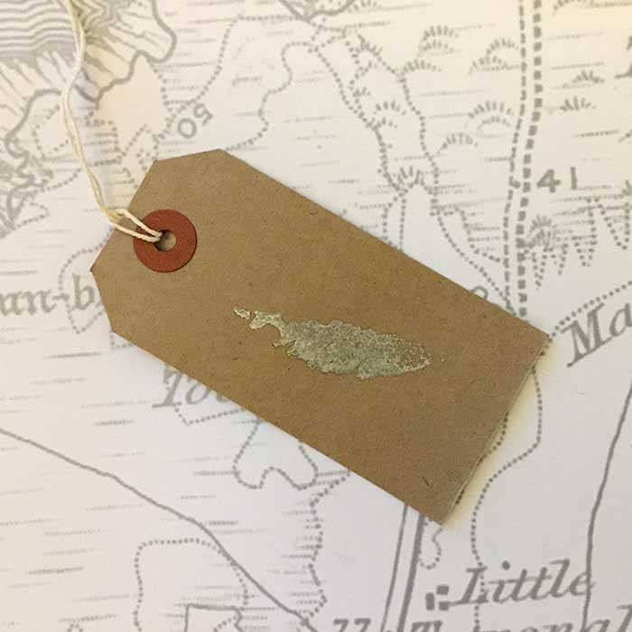 Coll Gift Tag in Brown