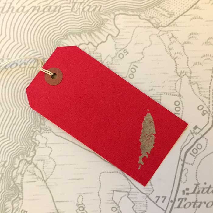 Coll Gift Tag in Red