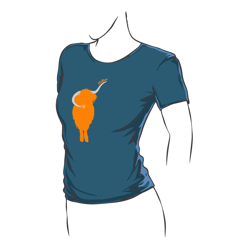 Highland Cow Fitted tee