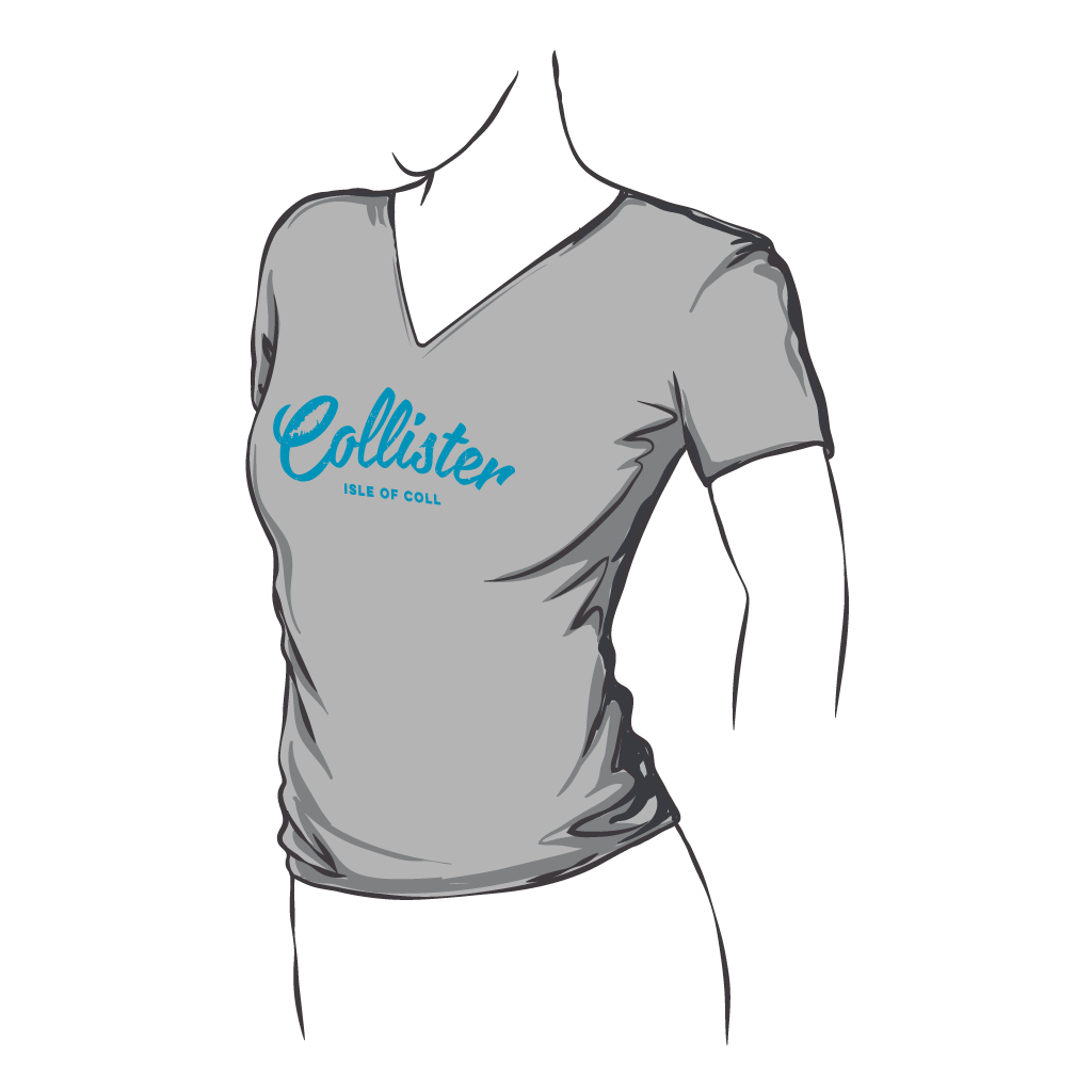 Collister Island Fitted V Neck Tee