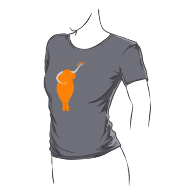 Highland Cow Fitted T-Shirt