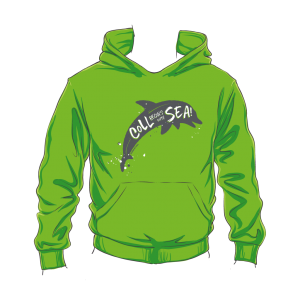 Kids Coll Dolphin Hoodie Green