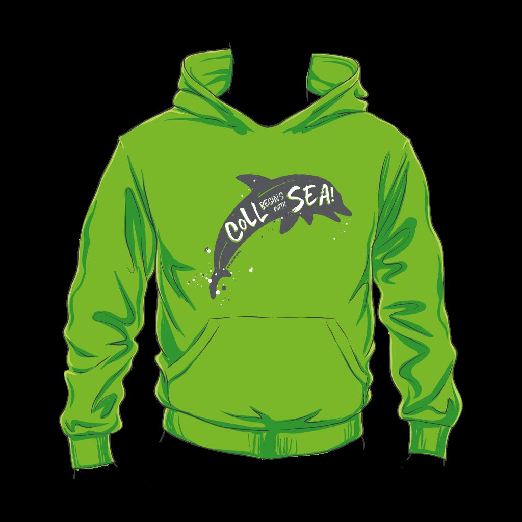 Kids Coll Dolphin Hoodie Green